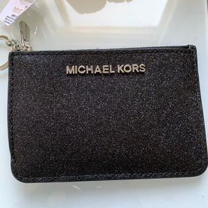 Michael Kors travel wallet in black sparkle